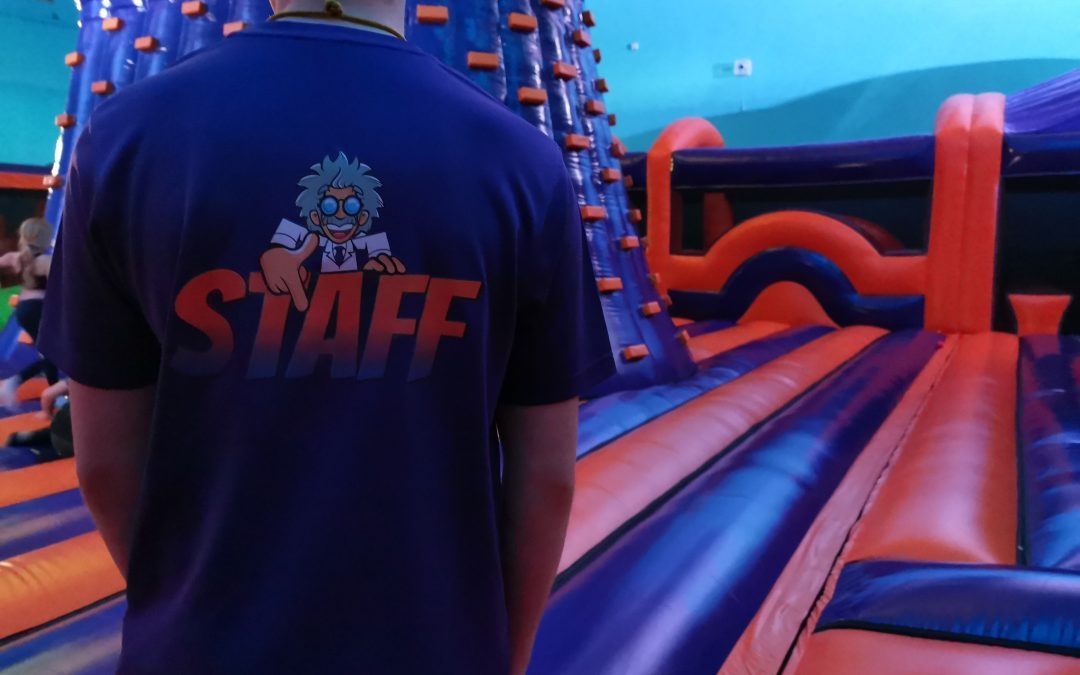 Join the Professor and the team at Inflate 'N' Play!