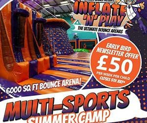 Multi Sport Summer Camp at Inflate 'N' Play Blackpool!